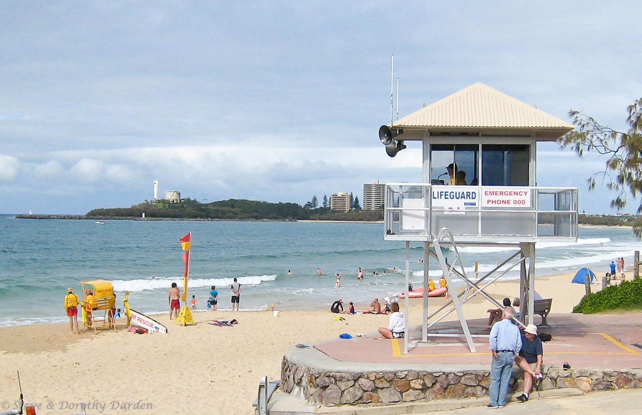 Even though it's in dangerous Australia, this appears to be a safe beach for swimming.