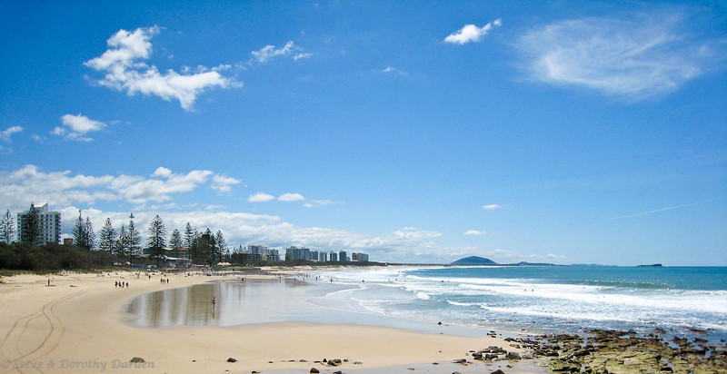 This is the beach at Maroochydore.