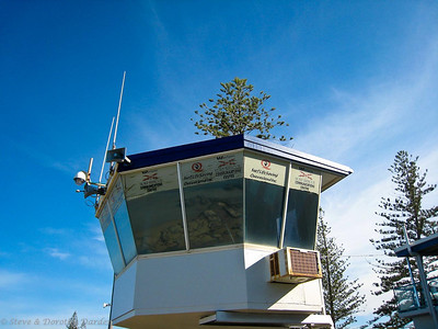 Lifeguard lookout station at Maroochydore beach