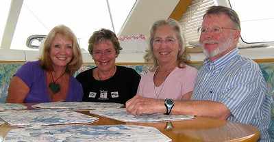 Michelle, Robyn, Dorothy and Steve aboard ADAGIO