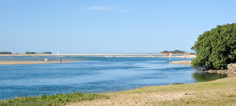 Entrance to the Maroochydore River at low tide