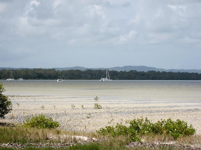 Adagio was anchored off Norman Point at Tin Can Bay.