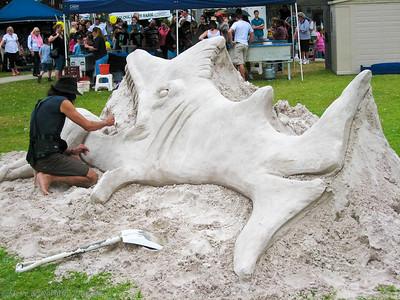 Creative sand sculpting