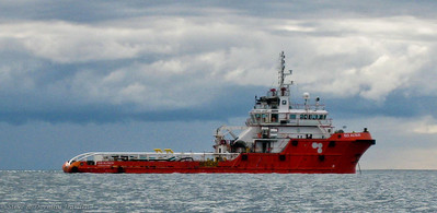 Rescue Ship m/v GO ALTAIR always looks ready to race to the Bass Strait oil platforms.