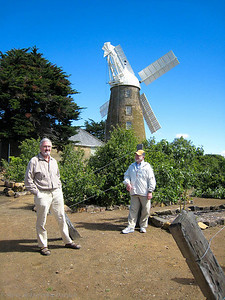 Adrian and Steve with the mill
