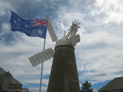 Aussie flag with the mill