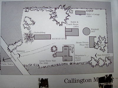 Layout of the mill grounds