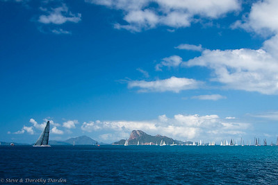 On our way to White Bay, we watched the Hamilton Island Race Week boats in the eastern starting area