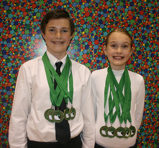 Provo High Competition--Nic & Em place in 5 of their six events!  Four first places and one third place!