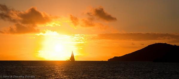 Sunset at Baie de l'Orphelinat
