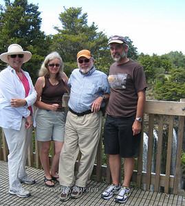 Dorothy, Brenda, Steve and Shaughan before the waterfall