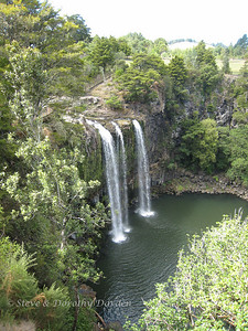 Whangarei falls from above