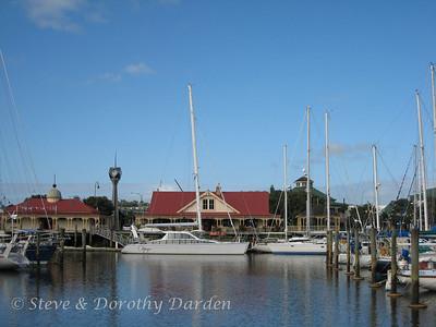 ADAGIO berthed at the Whangarei Town Basin Marina