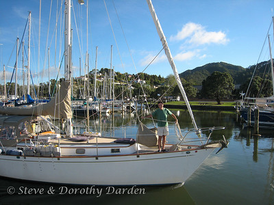 Geoff and Sally aboard s/v GRACE