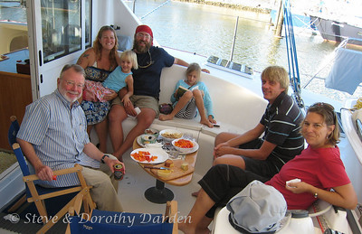 Steve, Tiffany, Jana, Jason, Lana, Burnie and Michelle aboard ADAGIO