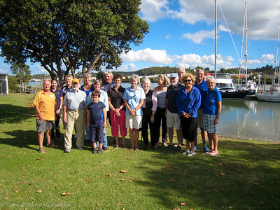 OCC members old and new gather at Riverside Marina for a terrific feed hosted by Whangarei OCC port officers Mary and Dave Berg of S/Y KISMET.