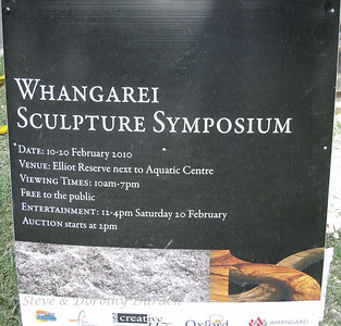 The Whangarei Sculpture Symposium was held within easy walking distance of ADAGIO's berth