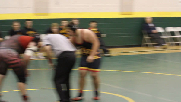 Joe Hunsaker - Round 2 - with the pin - Mt. Vista Dual Tournament