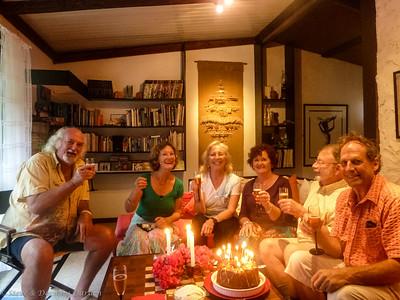 Ellen's birthday celebration at Albert and Cleo's house
