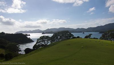View to the east from the top of Urupukapuka Island