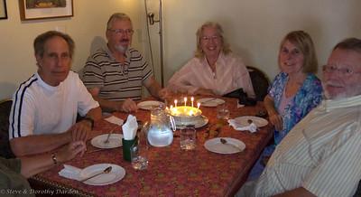 David, Adrian, Dorothy, Susan and Steve at Dorothy's birthday lunch at TUK TUK