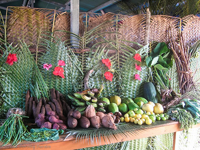 Display of local produce