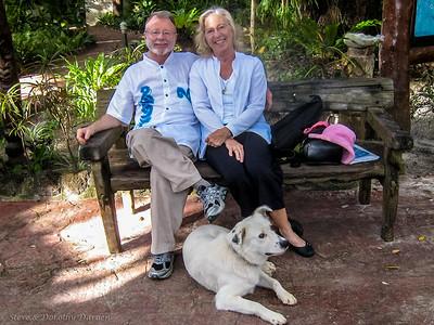 Steve, Dorothy and Friend at Hotel Kou-Bugny