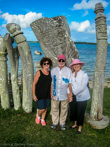 Ellen, Steve and Dorothy at Saint-Maurice Bay