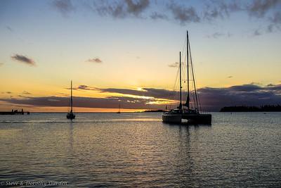 ELCIE at sunset Baie de Kuto