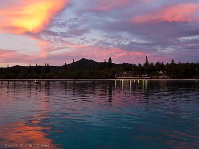 Baie de Kuto sunset