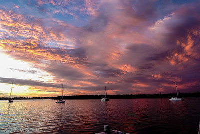 Sunset aboard MANGO MOON