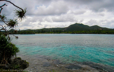 View of Mount Pic Nga over Kanumera Bay,  from the trail
