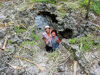 Ian and Ellen found a blowhole to explore.