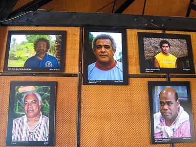 Photos of the tribal  Chiefs of Lifou