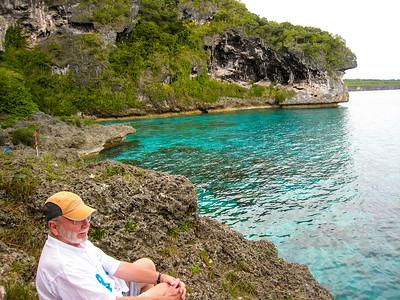 Steve enjoys the view at Jokin Cliffs