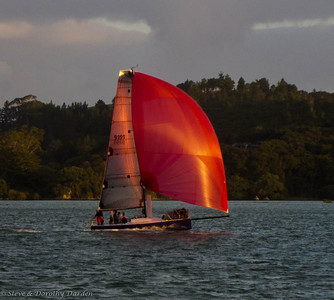 Wednesday night races finish line at Doves Bay
