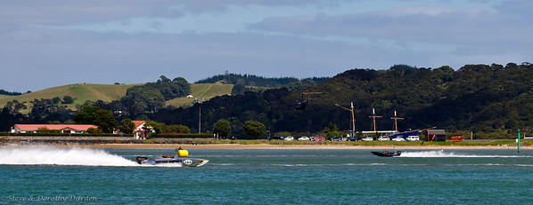 Speedboat rally near Waitangi