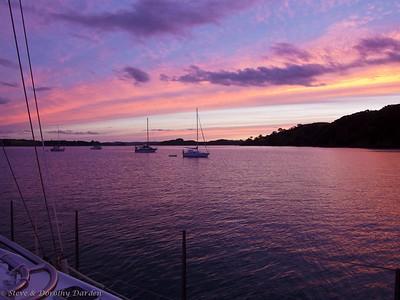 Sunset in the Te Pahi islands
