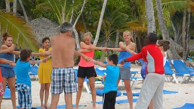 Yoga Stretch on the Beach
