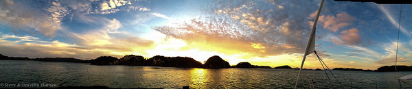 Golden sunset from ADAGIO