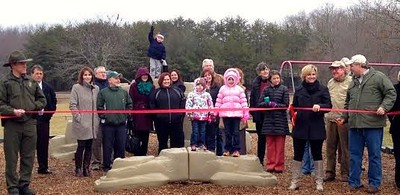 Ribbon cutting playground
