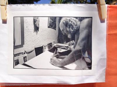 Artist Albert Thoma at work