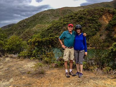 Joe and Kathy at the lake above the dam