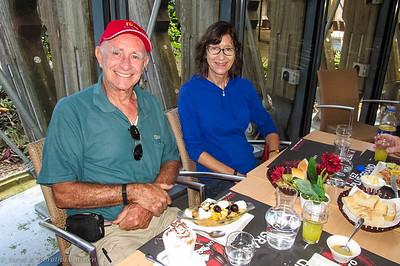 Joe and Kathy lunching at Tjibaou Cultural Centre