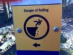 Danger of Falling sign