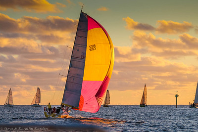 CNC Wednesday night races at sunset, Baie de L'Orphelinat