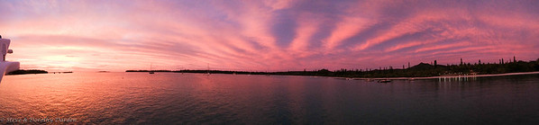 Pano of sunset at Kuto Bay