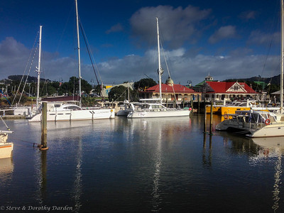 MANGO MOON and ADAGIO berthed at Town Basin in Whangarei