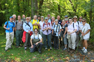 The 20 members of the most recent Tennessee Naturalist Program (TNP) gather at the South Cumberland Visitors Center before a hike