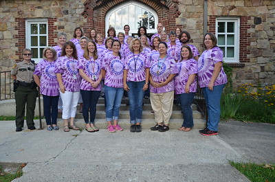 Sewanee Elementary School faculty and staff gather for a photo before the offcial start of school
